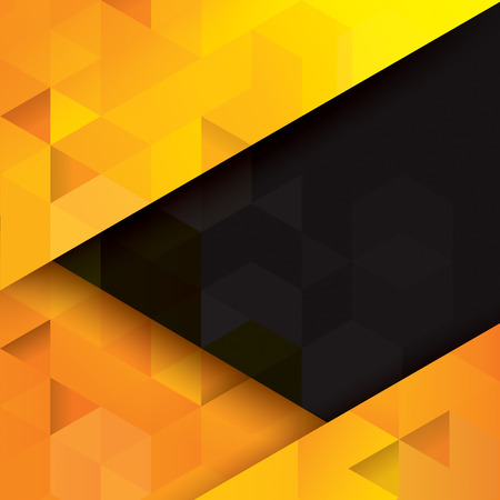 geometric shapes: Yellow and black abstract background vector. Illustration