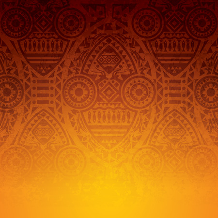 African art background design. Illusztráció