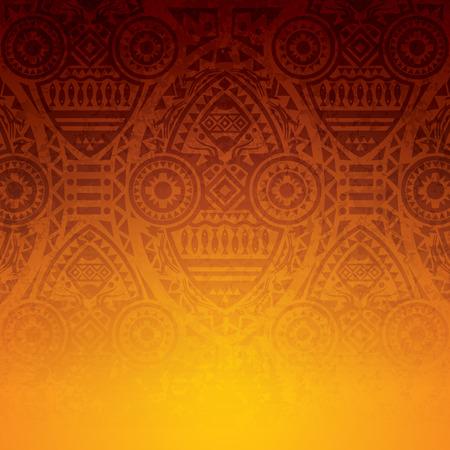 indische muster: Afrikanische Kunst Hintergrundentwurf. Illustration