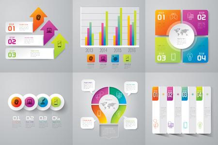 Infographie modèle de conception et de commercialisation icônes. Banque d'images - 43874606