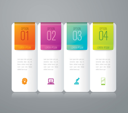 computer graph: Infographic design template and marketing icons. Illustration