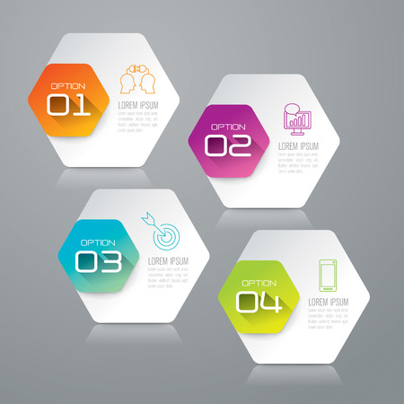 business strategy: Infographic design template and marketing icons. Illustration