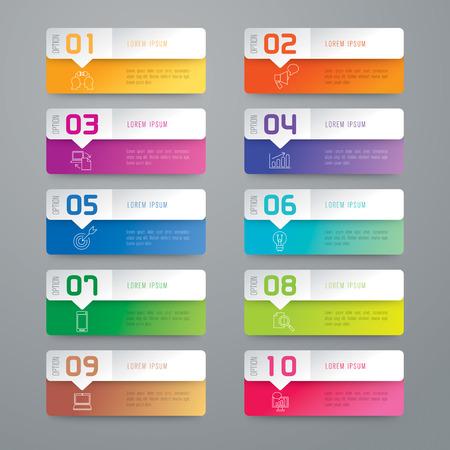 numero diez: Infografía plantilla de diseño y comercialización de iconos.