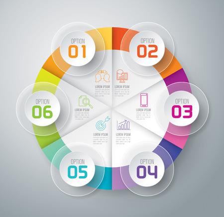 インフォ グラフィック デザイン テンプレートとマーケティングのアイコン。