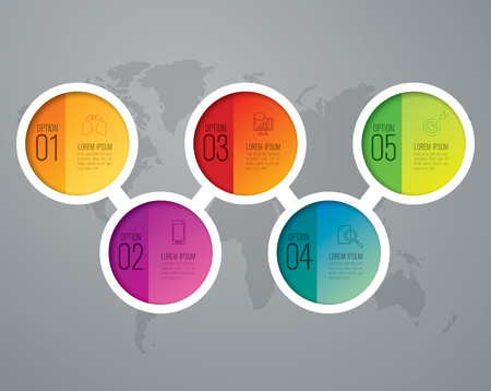 Infographic design template and marketing icons.  イラスト・ベクター素材