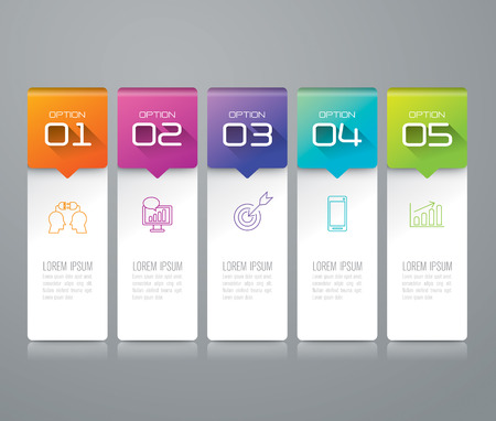 Infographic design template and marketing icons. Ilustracja
