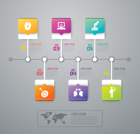 infograph: Infographic design template and marketing icons. Illustration