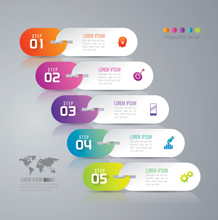 options: Infographic design template and marketing icons. Illustration