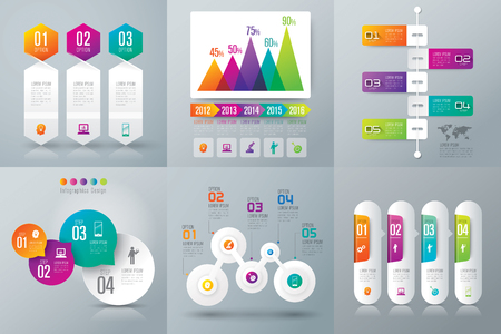 Infographic design template and marketing icons. Illusztráció