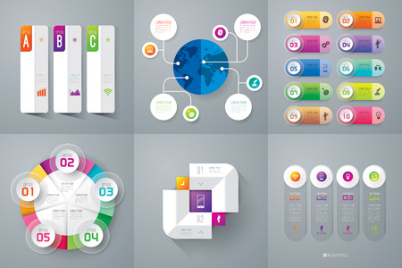 numbers background: Infographic design template and marketing icons. Illustration