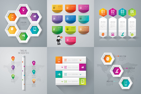 numbers abstract: Infographic design template. Illustration