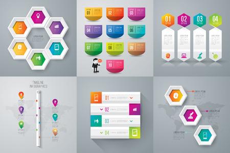num�ros: Mod�le de conception infographique. Illustration
