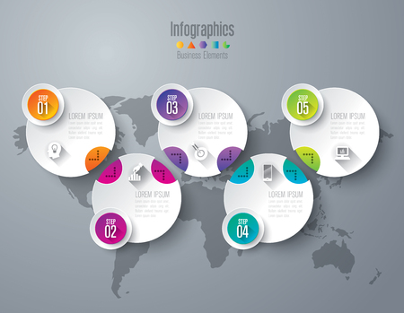 Infographic design template and marketing icons. 일러스트