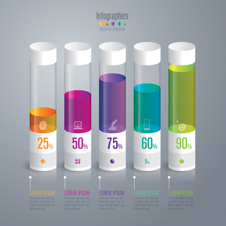a concept: Infographic design template and marketing icons. Illustration
