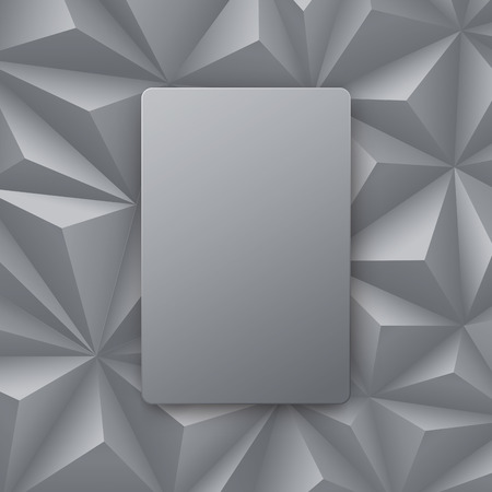 modern wallpaper: Gray abstract background vector.