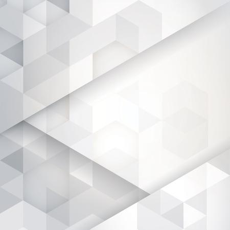 to polygons: Vector del extracto de fondo blanco y gris.