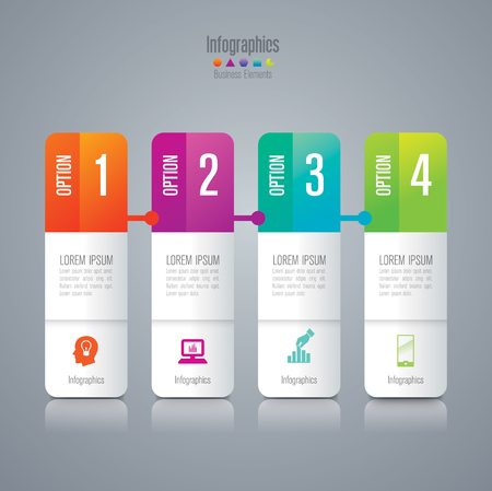 thinking link: Infographic design template and marketing icons. Illustration