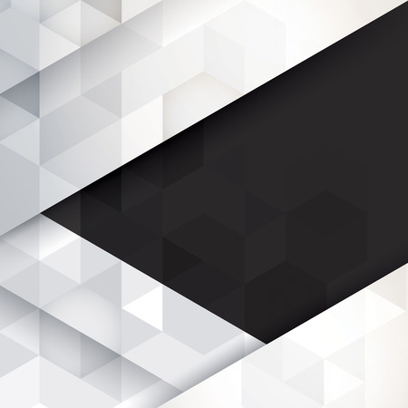 Black and white abstract background vector.
