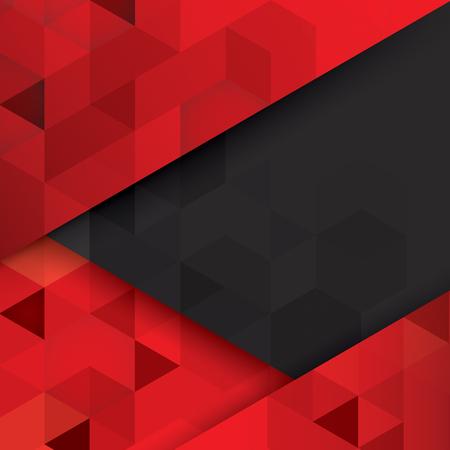 poligonos: vector de fondo abstracto rojo y negro.