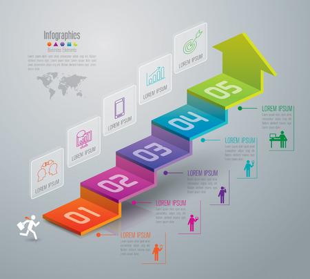 Infographic Design-Vorlage und Marketing-Ikonen. Standard-Bild - 47693209