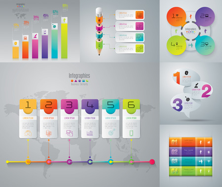 business diagram: Infographic design template and marketing icons. Illustration