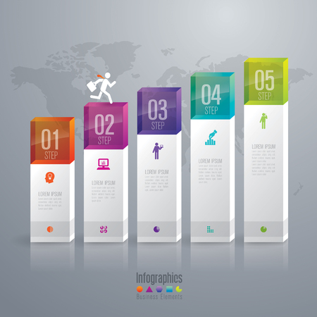 vector banner: Infographic design template and marketing icons. Illustration