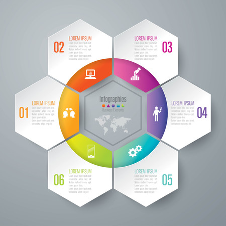 process diagram: Infographic design template and marketing icons. Illustration