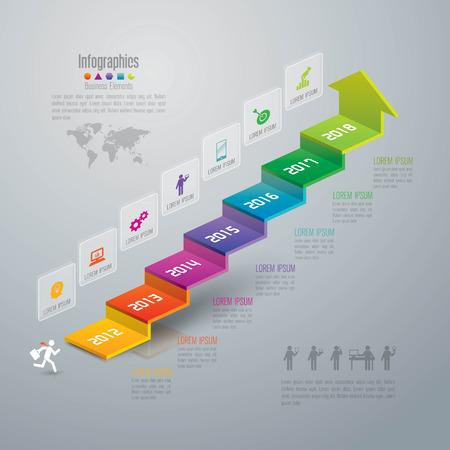 the diagram: Infograf�a plantilla de dise�o y comercializaci�n de iconos.