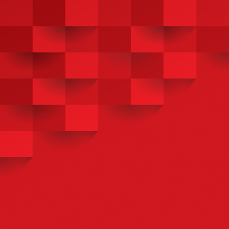 Red geometric background. Vectores