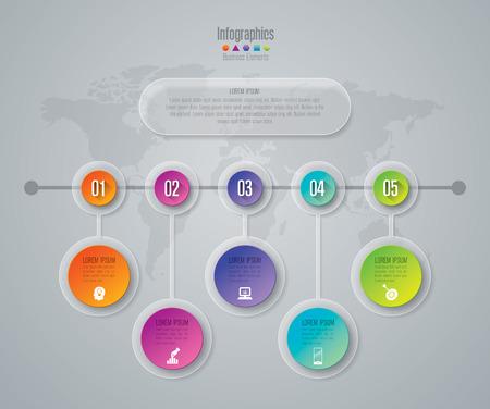 Infográfico plantilla de diseño e iconos de marketing.