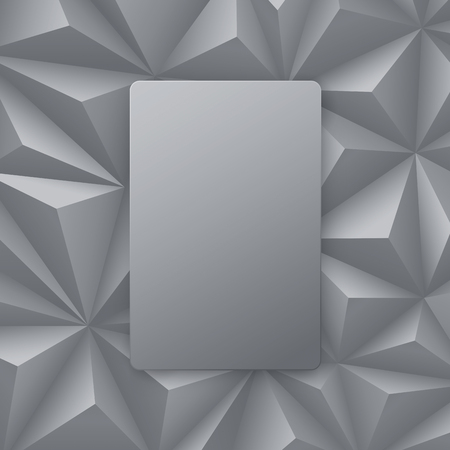 blank template: Gray abstract background vector.
