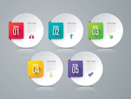 Infographic design template and marketing icons. Stock Illustratie