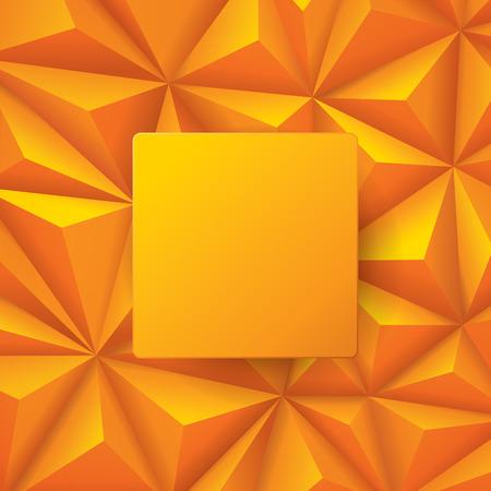 Orange vecteur de fond abstrait.