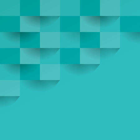 greenish blue: Greenish blue geometric vector background.