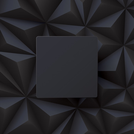 black background: Black abstract background vector. Illustration