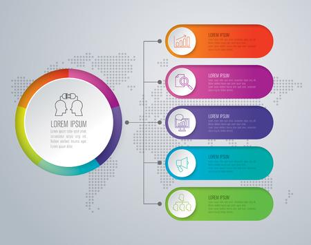 インフォ グラフィック デザイン テンプレート セットとビジネスのアイコン。