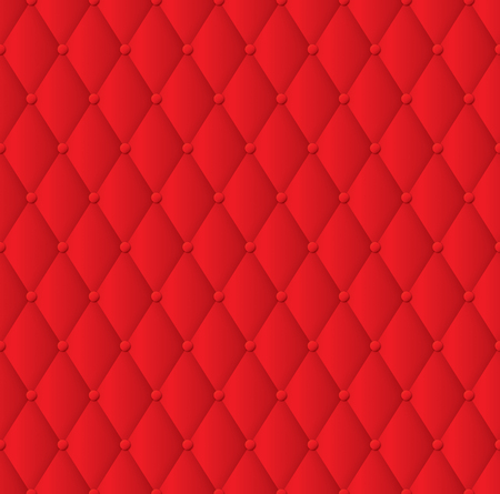 Red upholstery background. Illustration