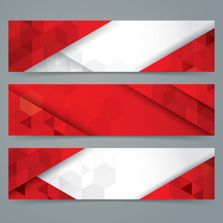collection red: Red and white abstract background banner. Collection banner design.