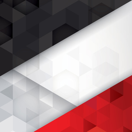 Black, white and red background vector.