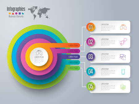 Infographic design and business icons.