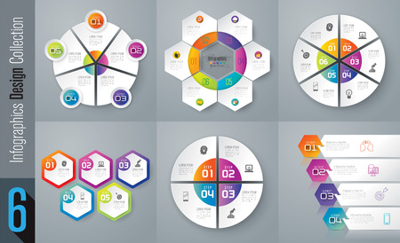 data collection: Set of infographic design vector and business icons.