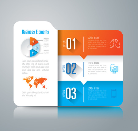 folder icons: Folder infographic design vector and marketing icons with 3 options.