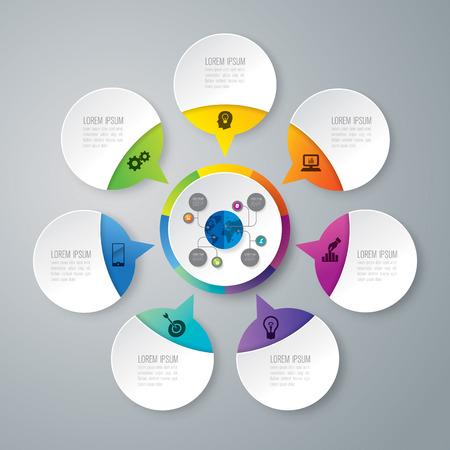 Vector icone di progettazione e business icone con 7 opzioni.