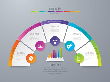 infographic design et icônes d & # 39 ; affaires avec 6 options Vecteurs