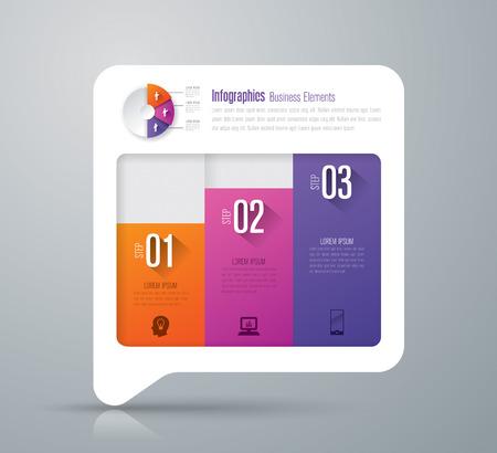 grafica de barras: Infografía diseño vectorial e iconos de negocios con 3 opciones.