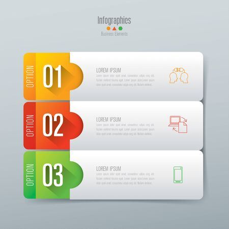 mobilephone: Infographics design vector and business icons with 3 options.