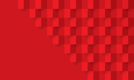 Red abstract background vector with blank space for text. Çizim