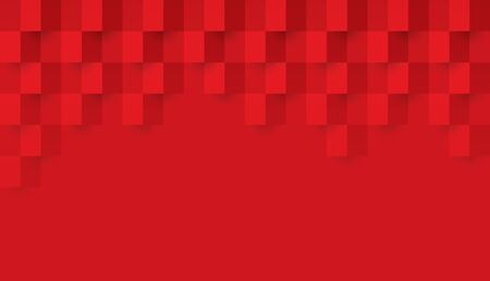 Red abstract background vector with blank space for text. Ilustrace