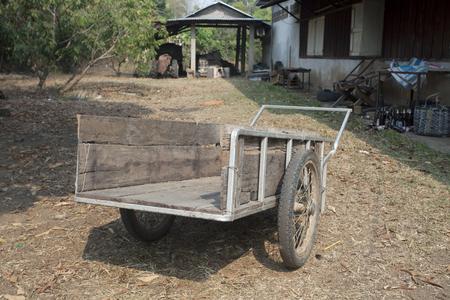 2 Wheel wood Trolley Stock Photo