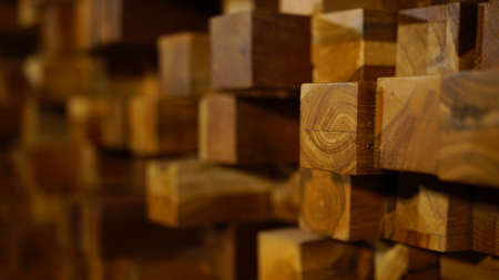 Wooden blocks of the same size, Nice wood texture. Good for background and ornamental designs